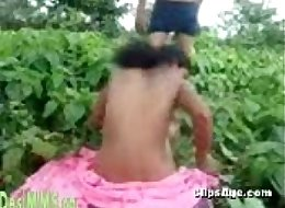 Desi village guy having sex with her lady outdoor in forest Part 2